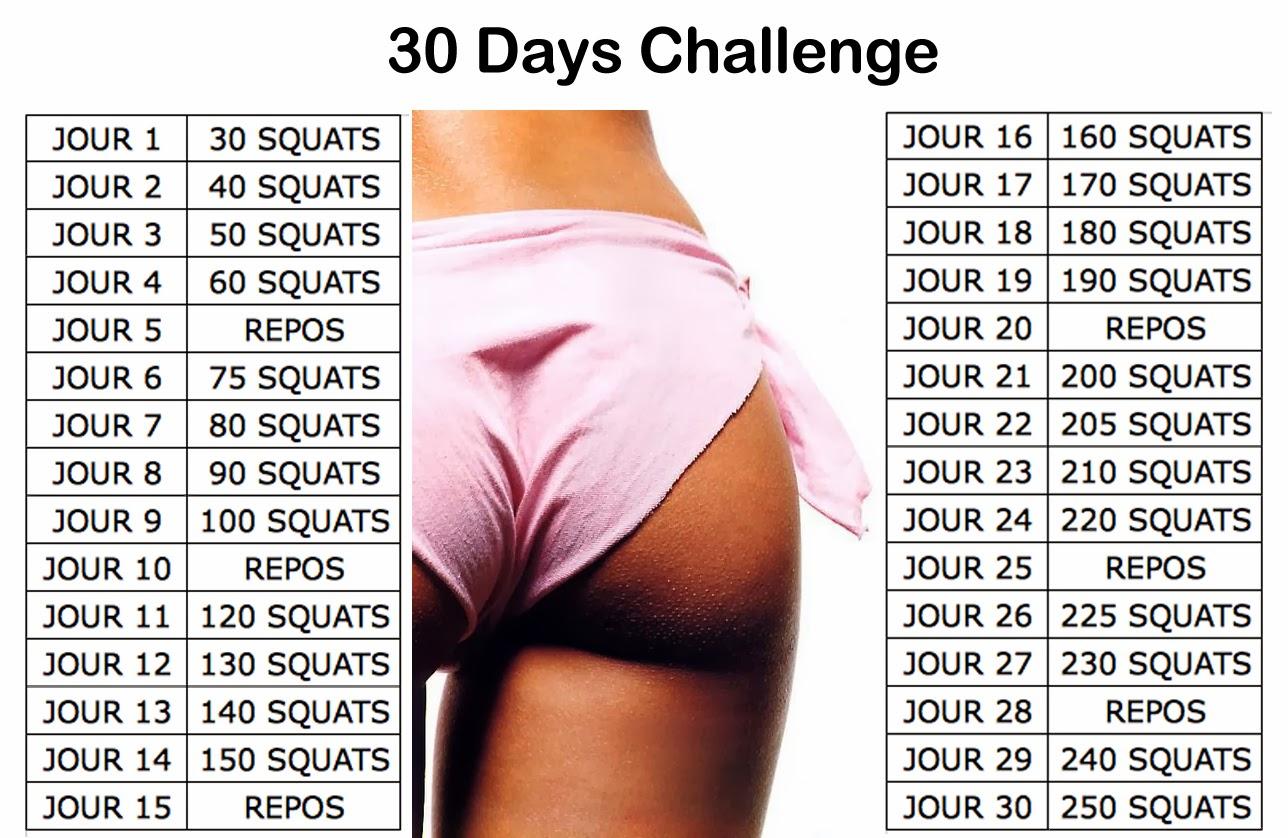 squats 30 jours de challenge