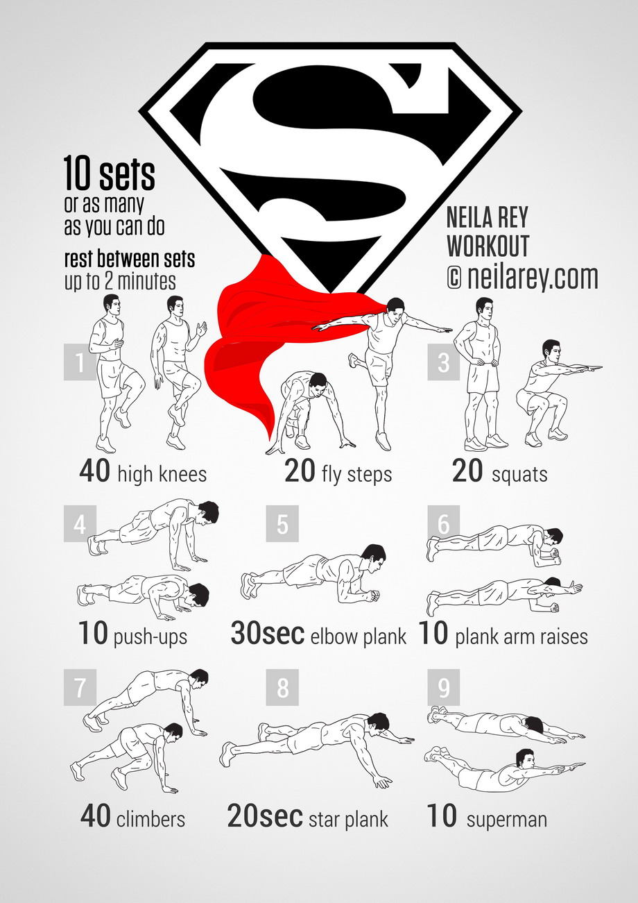 Le fitness des super-héros - Superman et Spiderman