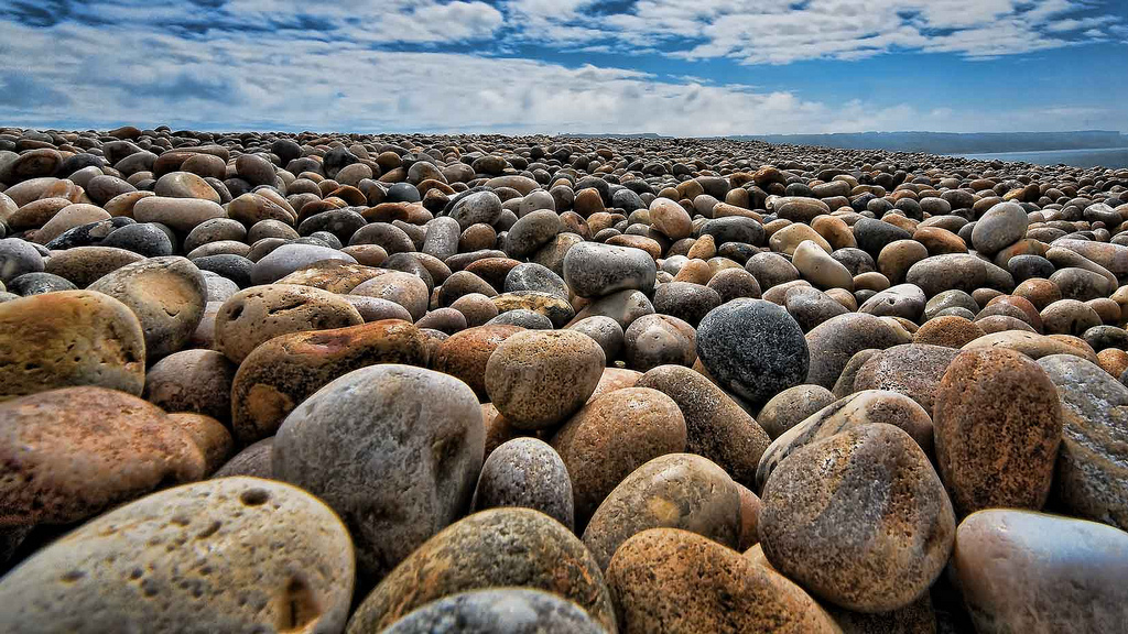 beach shingle